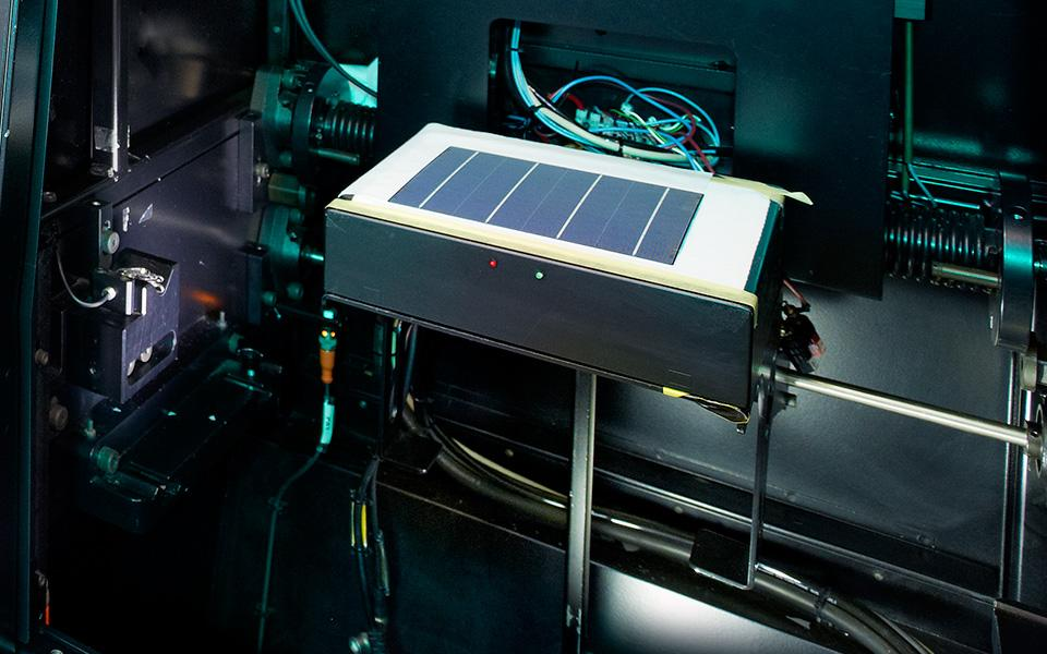Solar cell on factory equipment