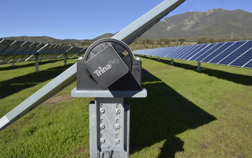 TrinaPro tracker with module on top in ground solar installation
